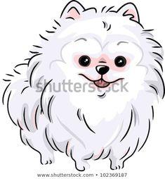 Clipart Happy White Pomeranian Dog - Royalty Free Vector Illustration by BNP Design Studio White Pomeranian, Pomeranian Puppy, Free Vector Illustration, Free Illustrations, Clipart, Cute Puppies, Cute Dogs, Illustrator, Art Icon