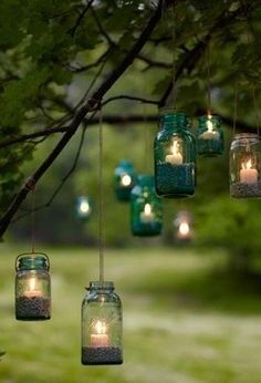 Mason Jar Lanterns. Check out our 9 Easy-to-Make Garden Luminaries
