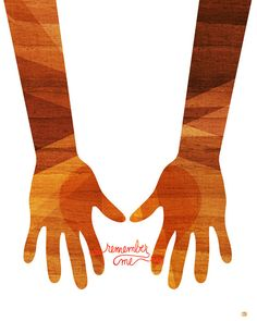 Remember Me Hands and Arms Wood Silhouette 8x10 by thepairabirds