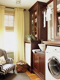 Pretty laundry space