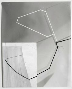 Gordon Moore, Untitled (Noir), 2009  Ink and Gouache on photo-emulsion paper