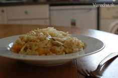 Hríbovo-tekvicové rizoto - Recept Risotto, Ethnic Recipes, Food, Meals, Yemek, Eten