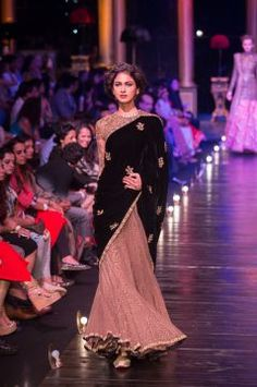 Sabyasachi at Lakme Fashion Week Grand Finale  The grand finale at the Lakme Fashion Week Winter Festive 2013 saw noted designer Sabyasachi Mukherjee present a royal Indian wear collection. The collection came after a hiatus of five years and saw the designer's interpretation of Indian royalty, with both day and night looks.