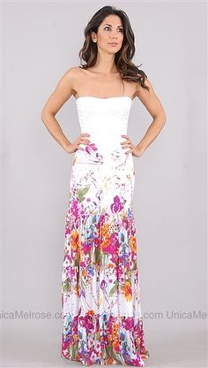 I would put a halter strap or something on this because toddler. Sky White Kenia Floral Long Dress