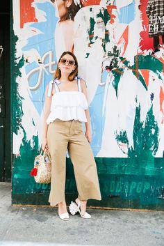 Storets top, Zara pants, Tory Burch shoes, Artemis Design Co bag, Safilo sunglasses -- another option here