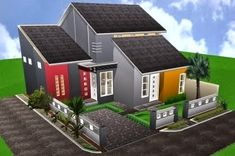 50 Model Atap Rumah Minimalis Yang Cantik Nan Menawan   Desainrumahnya.com Small House Exteriors, Sometimes I Wonder, Desktop Pictures, High Quality Wallpapers, Background Pictures, Easy Home Decor, Rooftop, Shed, Outdoor Structures