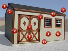 Design D0610M 6 x 10 Delux Modern Shed Plans Roof Style