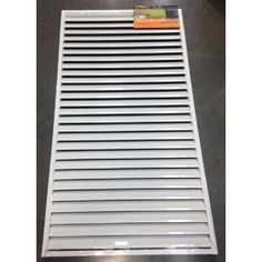 Protector Aluminium 810 x 1710mm Pearl White Easy Screen Welded Louver Panel