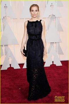Sienna Miller on the red carpet at the 2015 Academy Awards held at the Dolby Theatre on Sunday (February 22) in Hollywood.…
