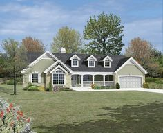 ePlans Country House Plan – Country Ranch with Dramatic Atrium Views– 1532 Square Feet and 3 Bedrooms from ePlans – House Plan Code HWEPL76145