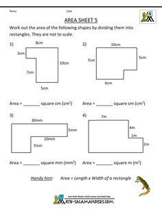 Area Worksheet 3rd Grade Geometry Worksheet To Find The border=