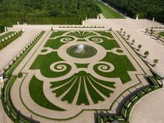 Parterres and paths Palace of Versailles A short train ride outside of Paris Chateau Versailles, Versailles Garden, Palace Of Versailles, Green Architecture, Landscape Architecture, Landscape Design, Garden Design, Cool Landscapes, Beautiful Landscapes
