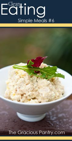 Clean Eating Simple Meals #6 #CleanEating #EatClean #CleanEatingRecipes #ChickenSalad