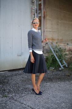 С чем носить юбку-плиссе: 15 стильных примеров 14