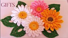 Flor tejida a crochet # 4 clavel tejido a crochet - YouTube