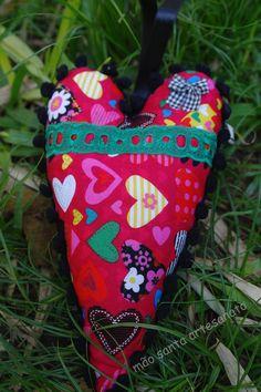 Coração Tilda em tecido