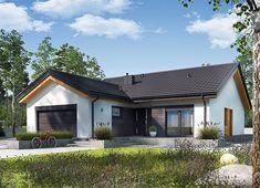 Projekt domu Simon III G2 energo 126,16 m² - koszt budowy - EXTRADOM Modern Barn House, Weekend House, House Plans, House Design, Mansions, House Styles, Outdoor Decor, Home Decor, Design Ideas