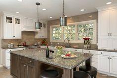 White Kitchen with Gray