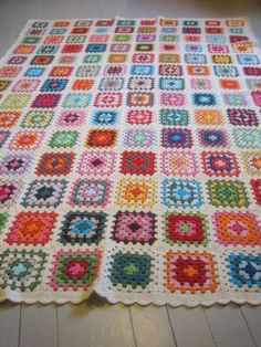 Granny square afghan 1 by yarn jungle, via Flickr