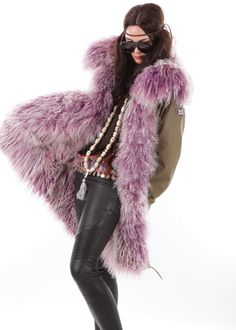 Bohemian Parka Tibet Lambskin lilac: WE LOVE PARKA, Germany