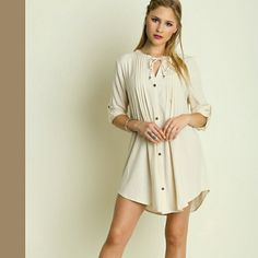 Charvi Button Shift Dress 3/4 sleeve. A beautiful dress! Dresses