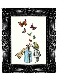 Alice in Wonderland Drink Me 2 Art Print Decorative art Wall art Wall hangings Original Wall Decor Poster Nursery Art  Buy 3 get 4th free