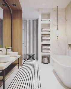 29 trendy bathroom design natural home White Bathroom Decor, Modern Bathroom Design, Bathroom Interior Design, Bathroom Ideas, Bathroom Designs, Bathroom Inspo, Turquoise Bathroom, Kitchen Interior, Double Sink Bathroom