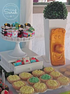 Treats at an Alice in Wonderland birthday party! See more party ideas at CatchMyParty.com!