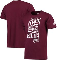 Mississippi State Bulldogs adidas Local Go To T-Shirt - Maroon -