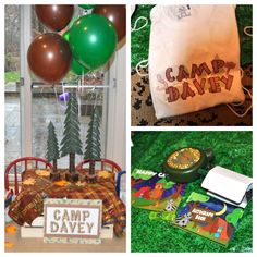 Camp Birthday Party by Frosted Events Creative Party Design
