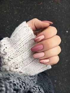 you should stay updated with latest nail art designs, nail colors, acrylic nails, coffin… - nailart Pink Gel Nails, Rose Gold Nails, Nail Manicure, My Nails, Manicures, Stiletto Nails, Coffin Nails, Glitter Nails, Polish Nails