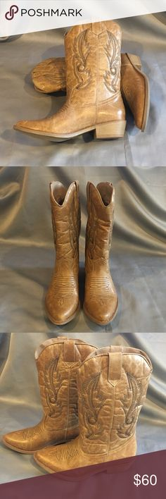 NWT/NIB Coconuts Gaucho Tan Cowboy Boots NWT/NIB Coconuts Gaucho Tan Cowboy Boots. They have the worn in look. Very soft and cozy inside. Comes with box.  Heel is approx 1.5 inches. Coconuts Shoes Heeled Boots