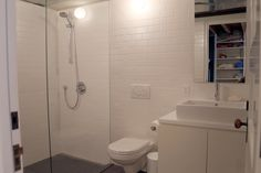 polished concrete floor,subway tiles, brooklyn townhouse, #RemontNYC