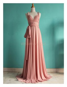 A beautiful full length convertible dress. Perfect for bridesmaid dress, or wear it as maxi dress, evening dress, formal dress...... Wrap it for multi