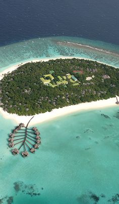 Coco Palm Dhuni Ariel View in the Maldives