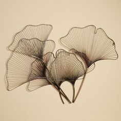 metal wall sculptures | Ginkgo Breeze Wall Sculpture Multi Metallic