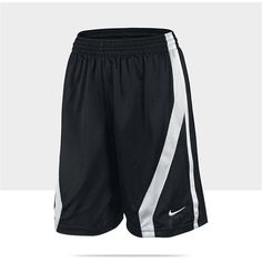 Nike Up and Under Women's Basketball Shorts - Team Black, L ($30) ❤ liked on Polyvore