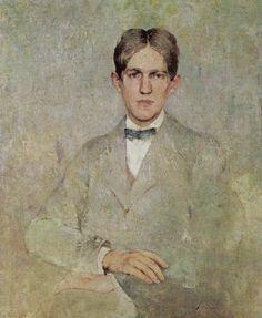 Portrait of Dines, c.1922 ~ Soren Emil Carlsen (1853-1932, Denmark)