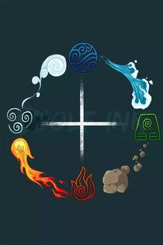 The Four Elements-Balance by UKthewhitewolf. Avatar Airbender, Avatar Aang, Team Avatar, Avatar Tattoo, Element Tattoo, Magia Elemental, Elemental Powers, The Last Avatar, Element Symbols