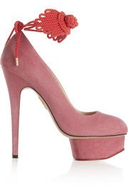 Charlotte OlympiaEternally Dolly embellished suede pumps