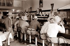 In a Diner in Junction, Texas in 1940