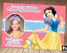 Invitación de princesa Blancanieves