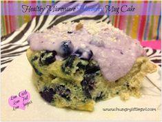 Healthy Microwave Blueberry Mug Cake - HungryLittleGirl (white chocolate frosting greek yogurt)