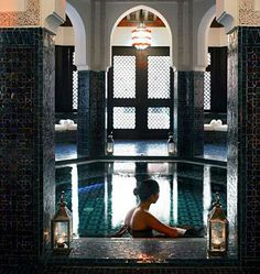 La Mamounia Spa Marrakech, Morocco #spa #beautiful #journey World's Most Beautiful, Beautiful Hotels, Beautiful Pictures, Traditional Baths, Marrakech Morocco, Moroccan Style, Hotel Spa, Luxury Homes, Architecture Design