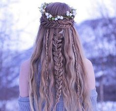 Image de braid, girl, and hair