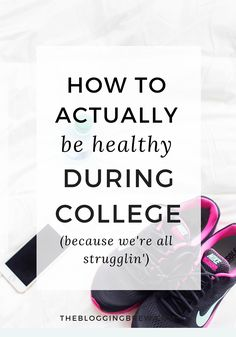 How To Stay Healthy In College With seemingly unlimited meal plans and a constant urge to just watch Netflix all day, being healthy in college in a struggle. I'm sharing 5 tips for getting on the right track! College Essentials, College Hacks, School Hacks, School Tips, College Checklist, College Dorms, Rn School, College Recipes, School Essay