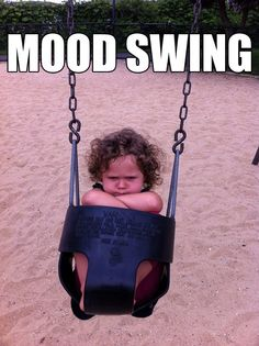 Kids, angry, child, grumpy, mood, playground, pout, swing, unhappy
