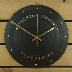 Country Living / Netherton Foundry Shropshire / Coalbrookdale clock Engineer's Black