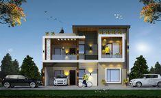 Exterior Wall Design, Modern Exterior House Designs, Modern House Facades, Modern Bungalow House, Modern Architecture House, Modern House Design, 2 Storey House Design, Bungalow House Design, House Front Design