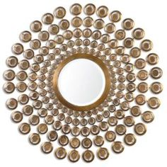 Check out the Uttermost 12916 Orbetello Antiqued Round Mirror in Gold